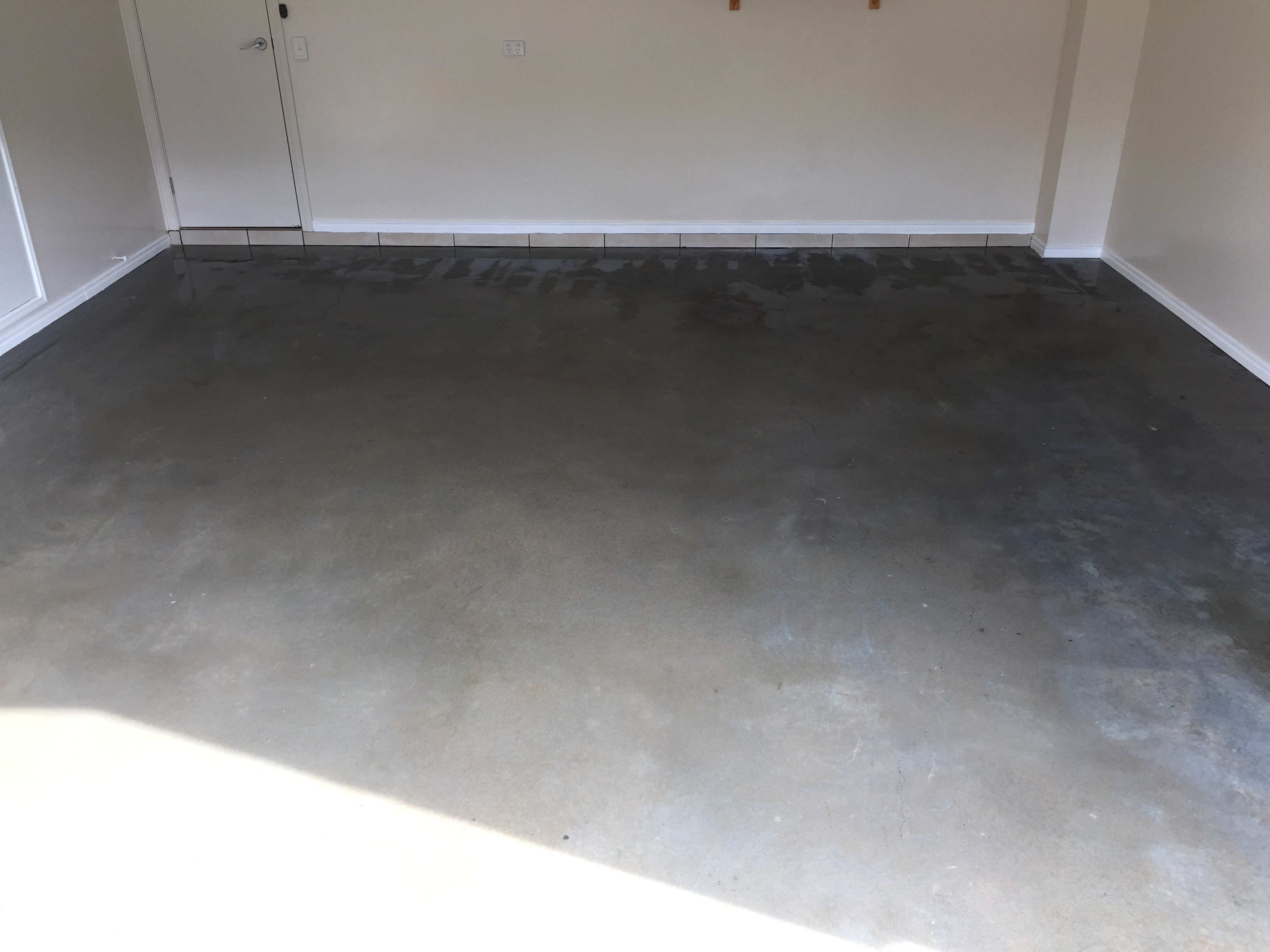 Garage floor after cleaning