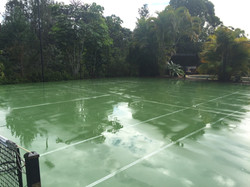High Pressure Cleaning Gold Coast Tennis Court After 1