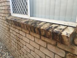 Bricks before pressure cleaning