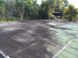 High Pressure Cleaning Gold Coast Tennis Court Before 1