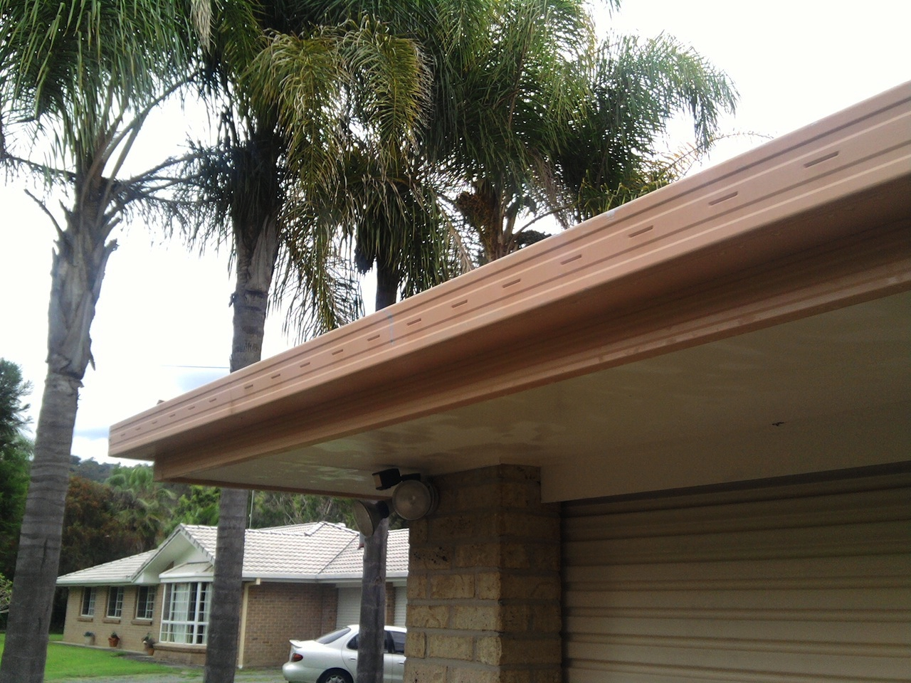 Gutters after pressure cleaning