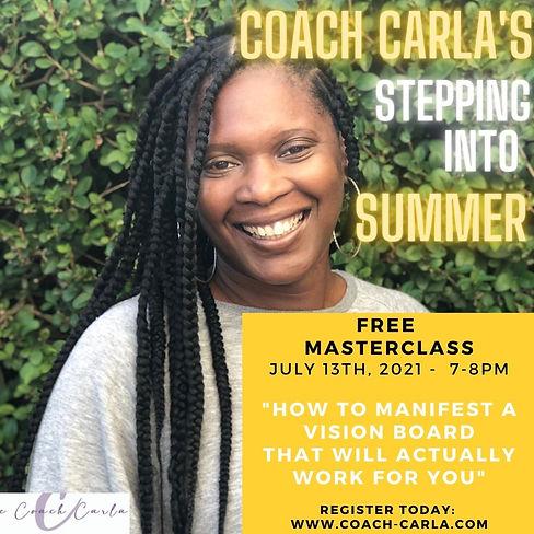 Stepping into Summer Masterclass 13th Ju