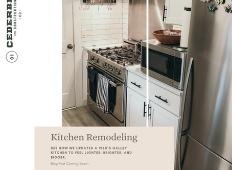 Renovation of a 1960s Galley Kitchen