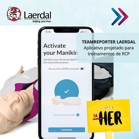TeamReporter Laerdal: aplicativo projetado para treinamentos de RCP
