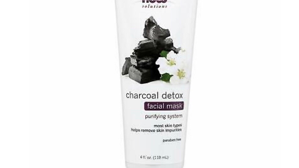 Now Solutions, Charcoal Detox Facial Mask, Purifying System 4-Ounce