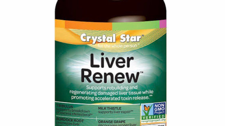Crystal Star Liver Renew Dietary Supplement Vegetarian Capsules