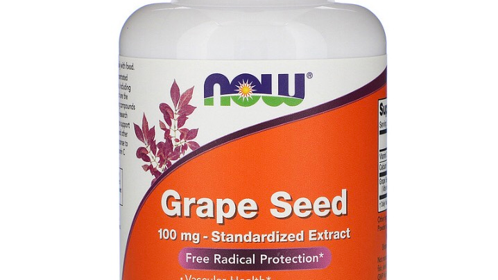 Grape Seed, Standardized Extract, 100 mg, 200 Veg Capsules