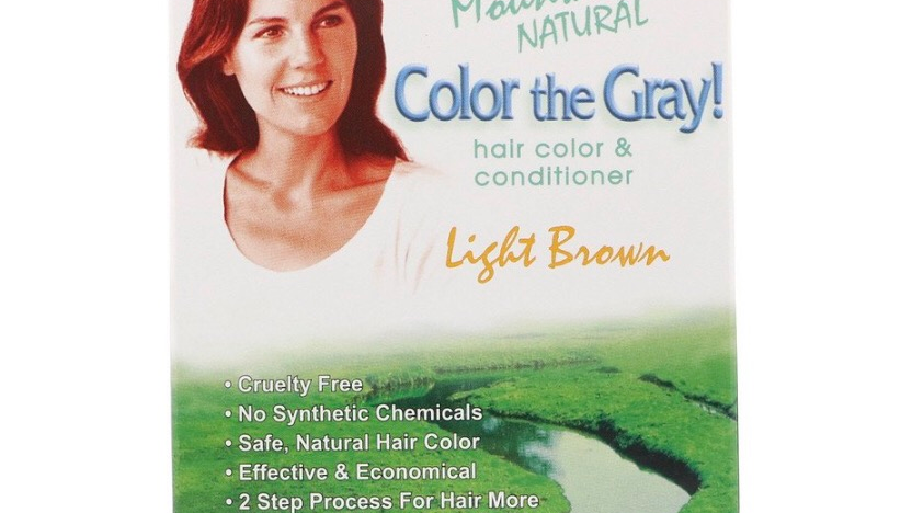 7Like mountain natural color the gray hair color and conditioner black 7oz