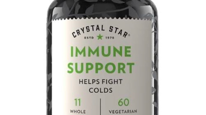 Crystal star immune support, 60 vegetarian capsules