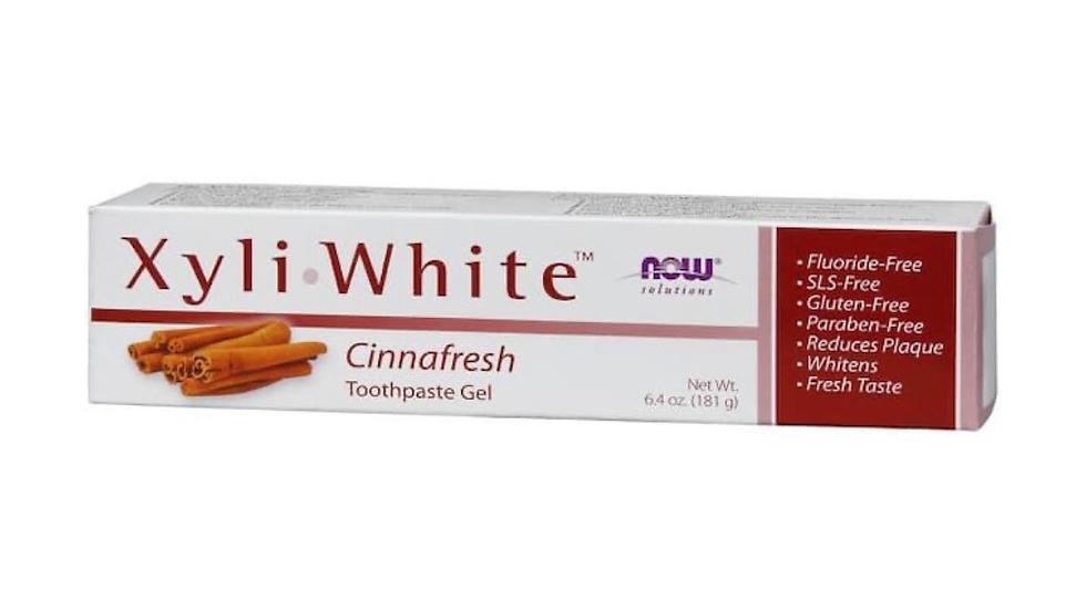 NOW Foods Solutions Xyli White Toothpaste Gel Cinnafresh -- 6.4 oz