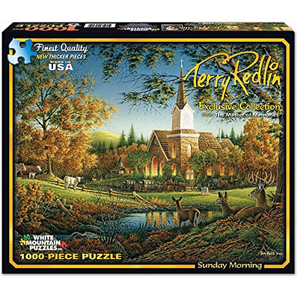 White Mountain Puzzles Exclusive Collection - Sunday Morning by Terry Redlin