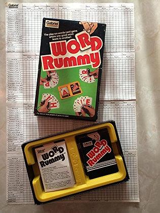 Vintage Gabriel Word Rummy Card Game 1980