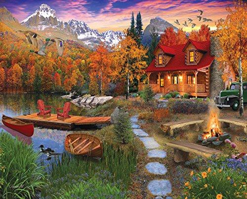 White Mountain New! Cozy Cabin - 1,000 Piece Jigsaw Puzzle