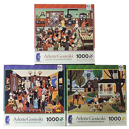 Arlette Gosieski 1000 piece jigsaw puzzle Qults / Edredones