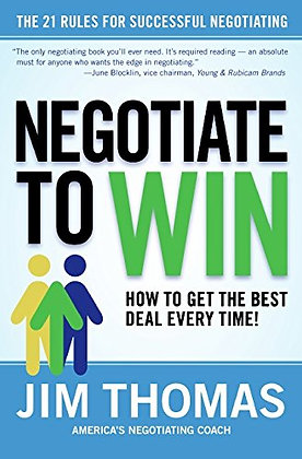 SIGNED COPY - Negotiate To Win: The 21 Rules For Successful Negotiating