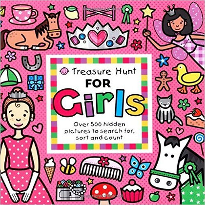 Treasure Hunt For Girls: Over 500 Hidden Pictures To Search For, Sort And Count!