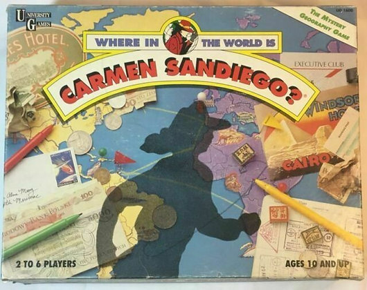 Where In The World Is Carmen Sandiego? Board Game