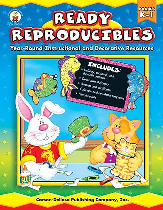 Ready Reproducibles, Grades K - 1: Year-Round Instructional And Decorative Resou