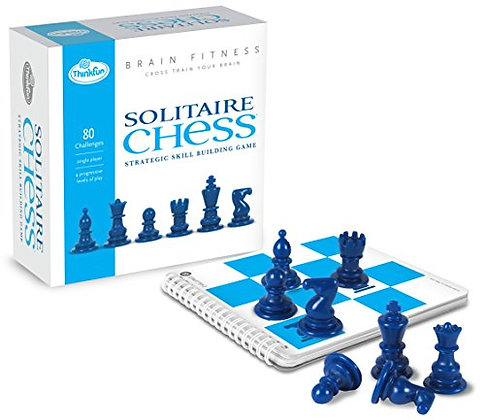 ThinkFun Brain Fitness Solitaire Chess - Fun Version of Chess You Can Play Alone