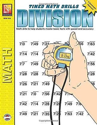 Timed Math Drills: Division   Reproducible Activity Book