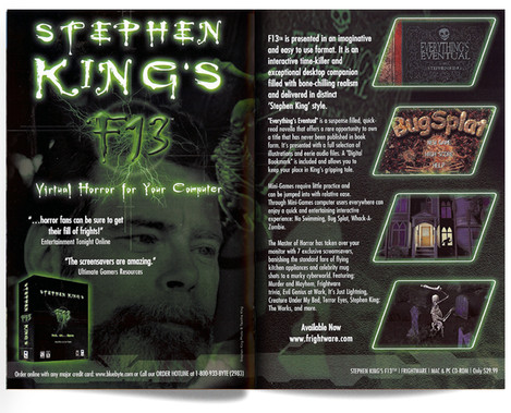 Blue Byte product catalog: Stephen KIng's F13