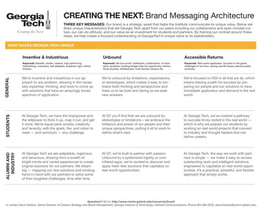 Brand Messaging Architecture