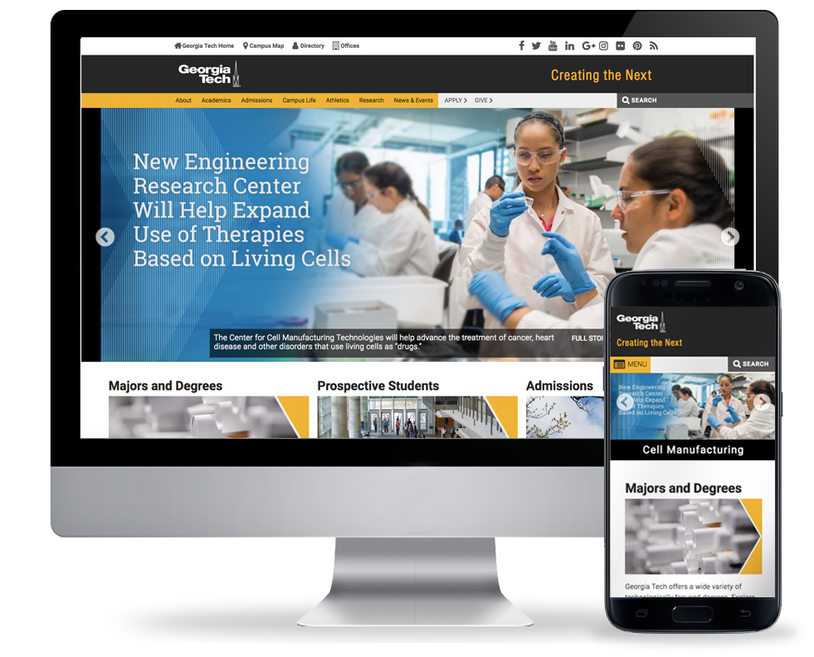 GT Web Redesign: After