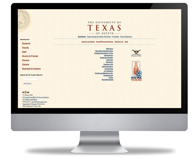 UT Austin Web: Before