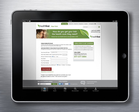 HealthFirst Sign up Page