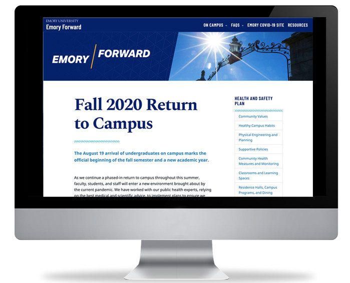 Emory Forward: Return to Campus