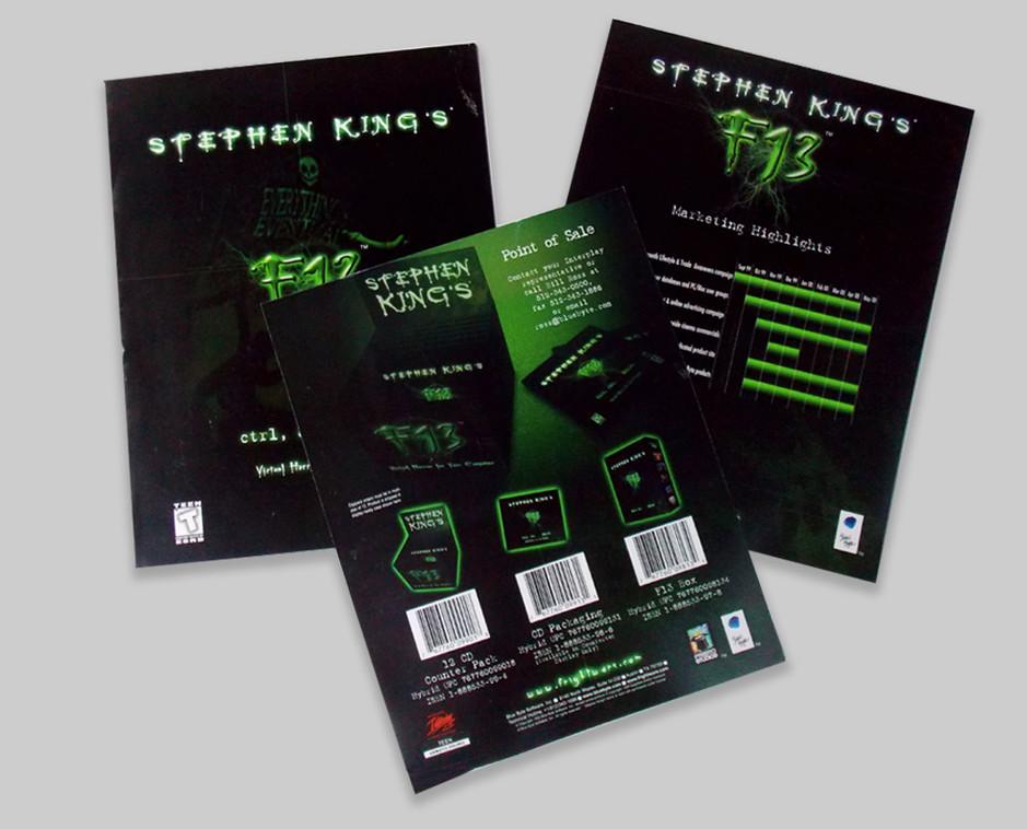 Stephen King's F13 marketing brochures
