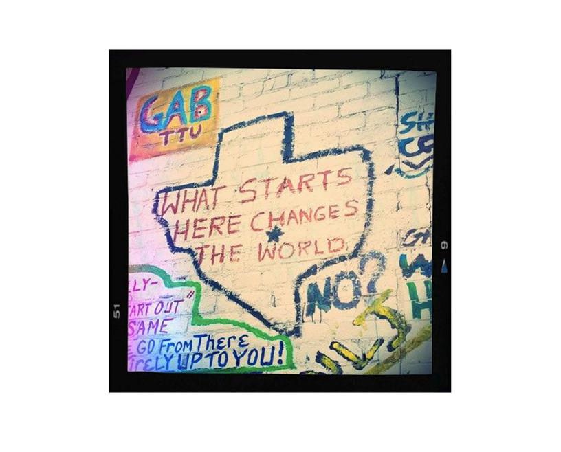 What Starts Here graffiti