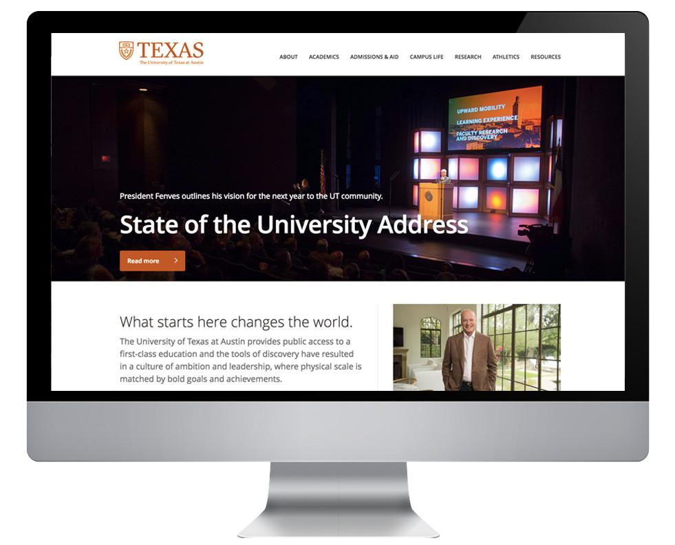 UT Austin website 2017