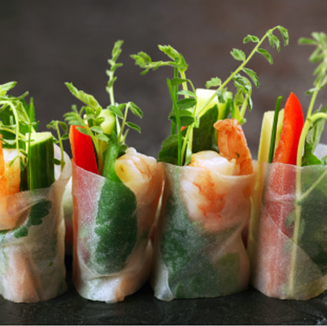 Low FODMAP, IBS friendly and Monash certified Dietitian approved rice paper rolls
