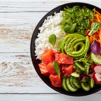 Low FODMAP, IBS friendly and Monash certified Dietitian approved poke bowl