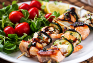 Low FODMAP, IBS friendly and Monash certified Dietitian approved fish skewers