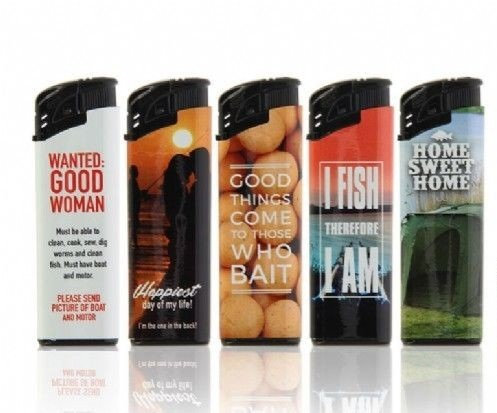 Five Electronic and Refillable Joke/Comedy Angling Lighters