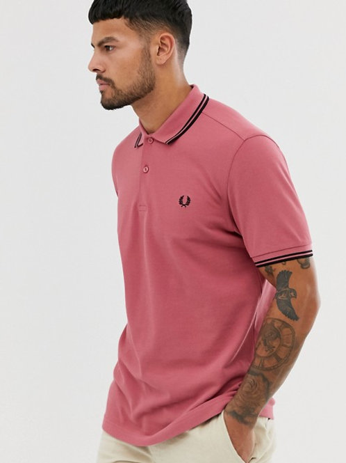 POLO FRED PERRY ROSA/NEGRO