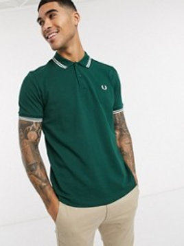 POLO FRED PERRY VERDE/BLANCO