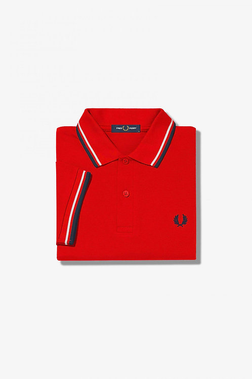 POLO ROJO FRED PERRY