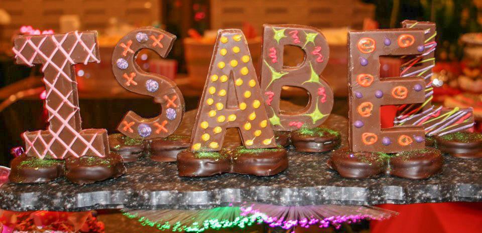 Milk Chocolate Edible Letters