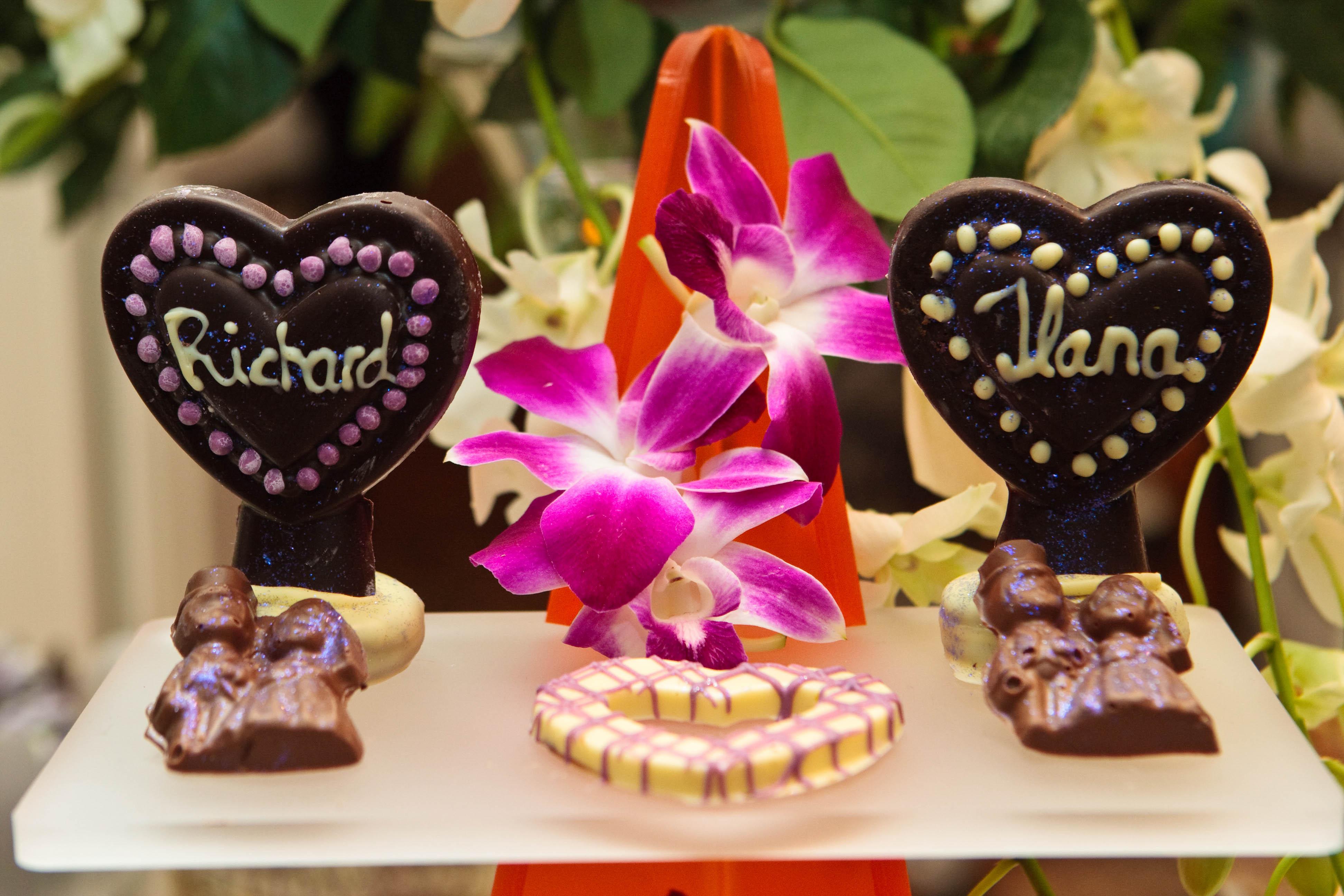 Chocolate Wedding Hearts