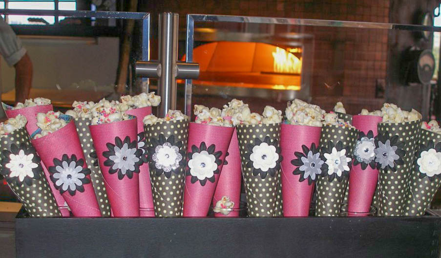 White Chocolate Popcorn Cones