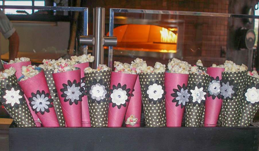 White Chocolate Popcorn Cones