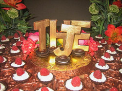 Gold Edible Letters