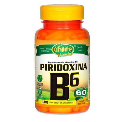 PIRIDOXINA VITAMINA B6 UNILIFE 60 CAPS