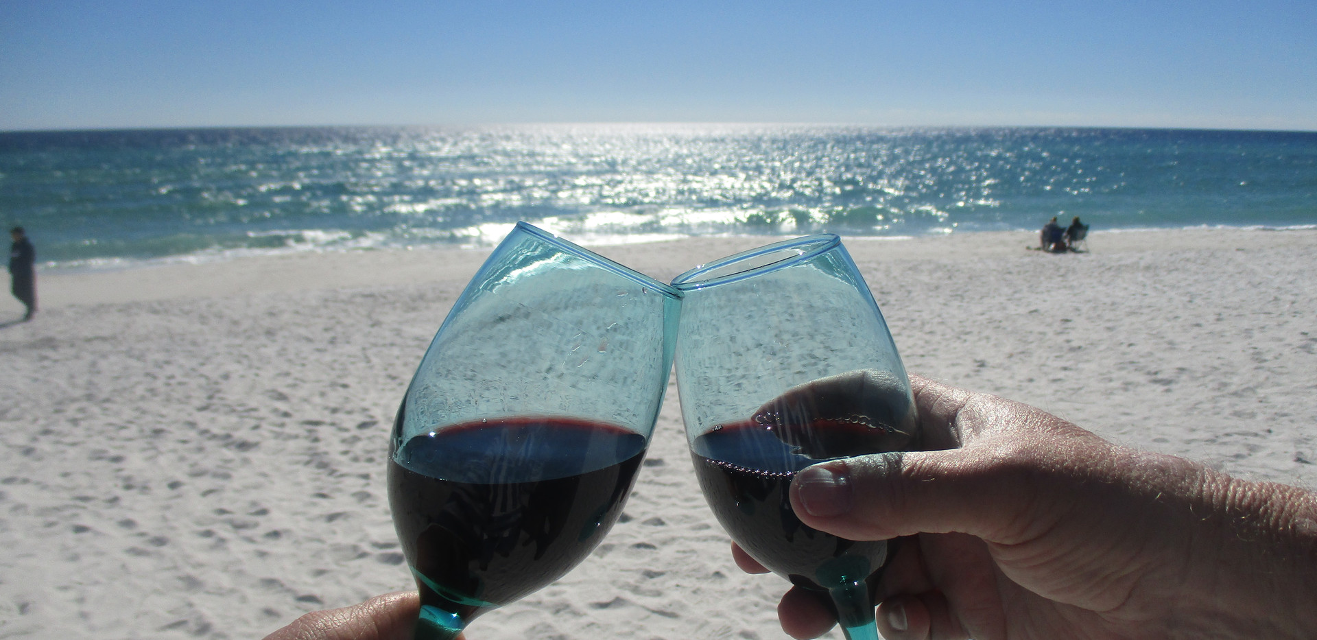 Cheers! Welcome to the beach!