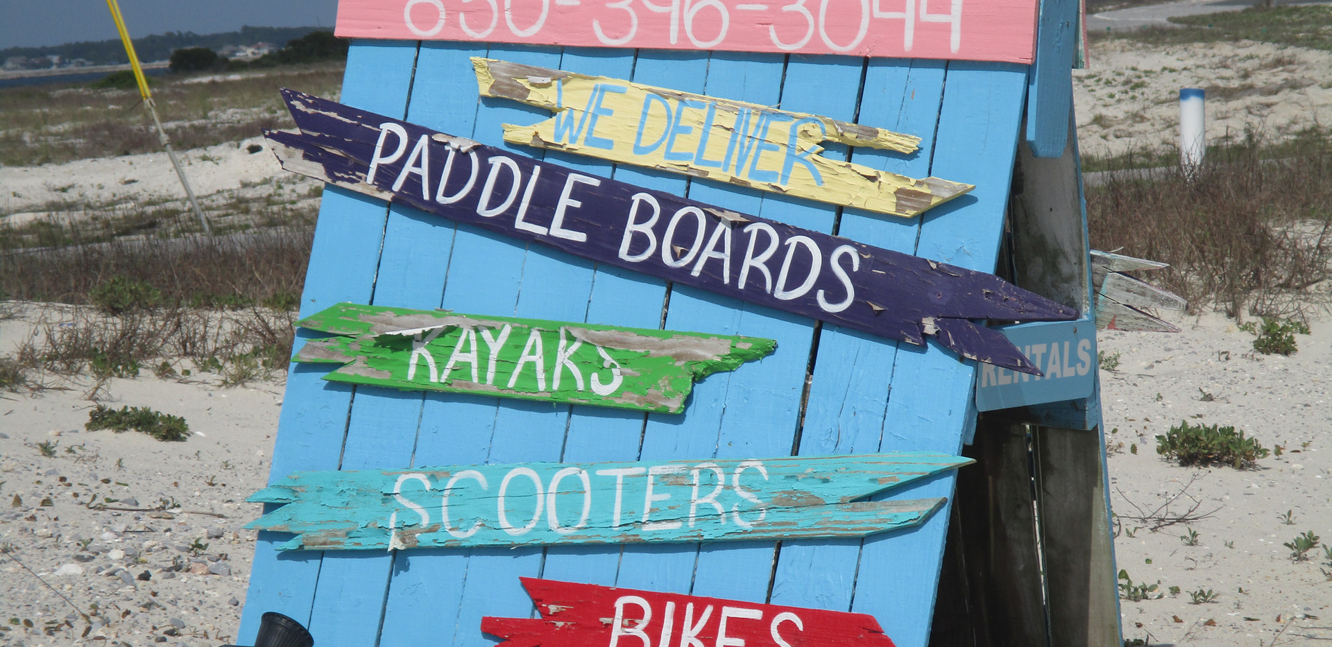 Kayaks, paddle board and other rentals