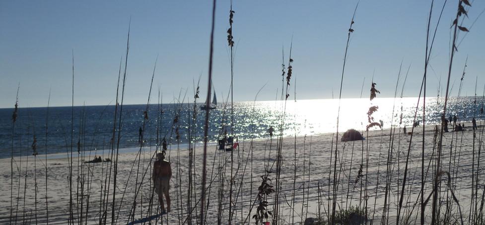 Gulf side beach
