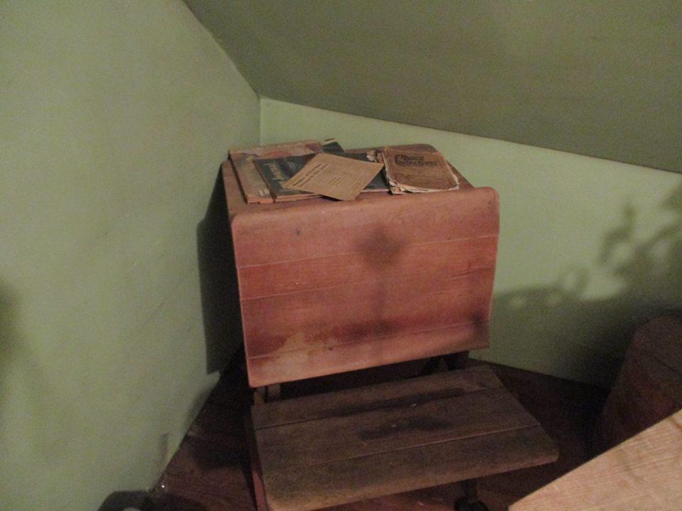 Old schoolhouse desk